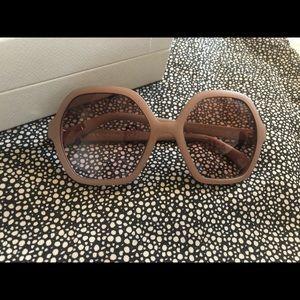 Prada Accessories - Prada rose colored octagon sunglasses 🕶
